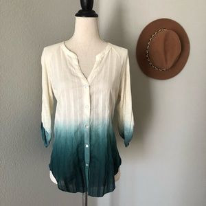 Anthropologie Tiny Ombre Blouse
